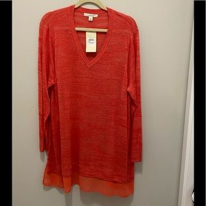 Sejour ladies long sleeve salmon colored 1XL NWT